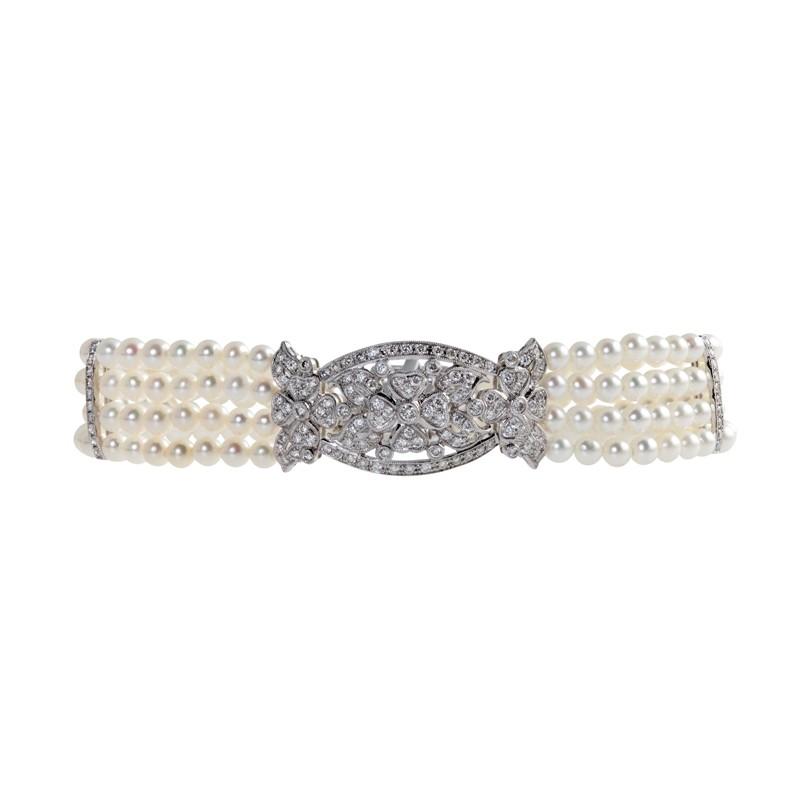 Antique Style Pearl Bracelet